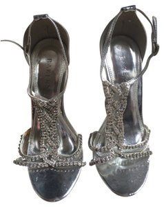 Bakers Prom Heals Crystal Crystalheals Wedding Weddingheals Silver Pumps