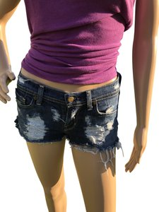 Citizens of Humanity Blue Distressed Designer Boyfriend Denim Shorts-Distressed