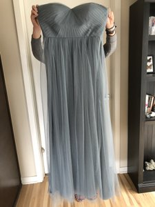 Jenny Yoo Mayan Blue Tulle Annabelle Formal Bridesmaid/Mob Dress Size 6 (S)