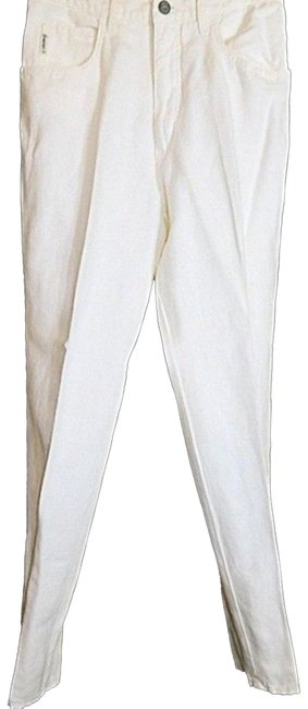 Armani Jeans Off White Ivory Old Stone Linen Blend Women S