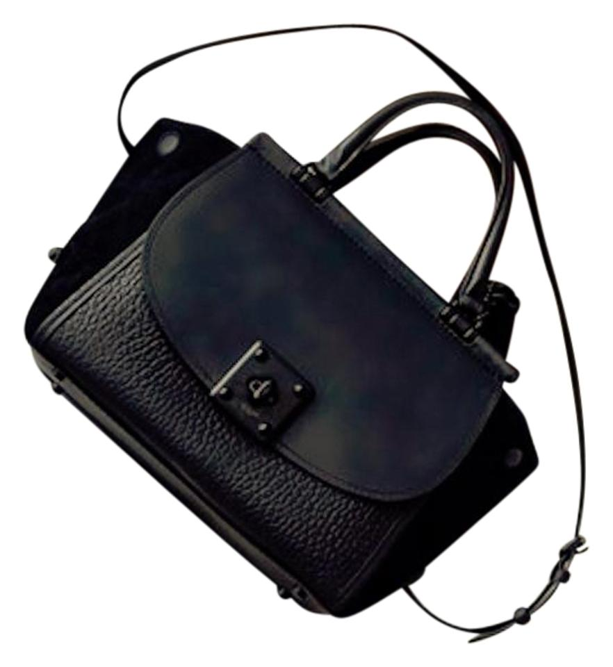 Coach Drifter Carryall In Matte Black Mixed Leather Tote - Tradesy 9c4dd51a3a2c1
