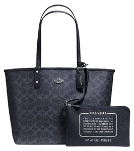 Coach Reversible Shoulder Tote in Denim