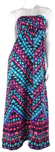 Multi-Colored Maxi Dress by Alice & Trixie Side Pockets Pockets Maxi Pink Blue