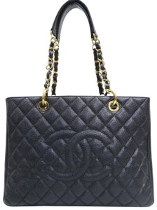 Chanel Caviar Gst Grand Shopping Tote Shoulder Bag