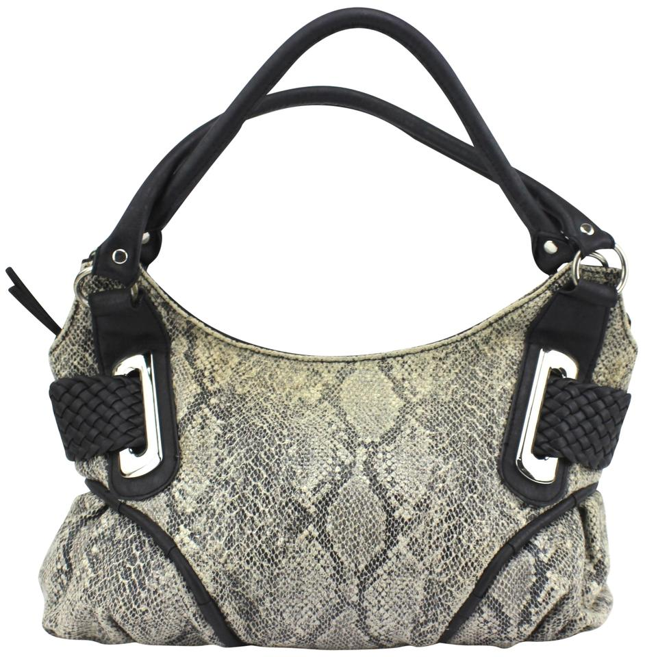 Bueno Collection Animal Print Large Shoulder Purse Gray Faux Leather ... 8729acc33fa91