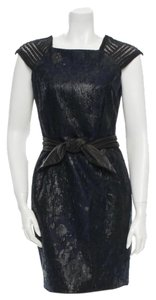 Yigal Azrouël short dress Navy & Black on Tradesy