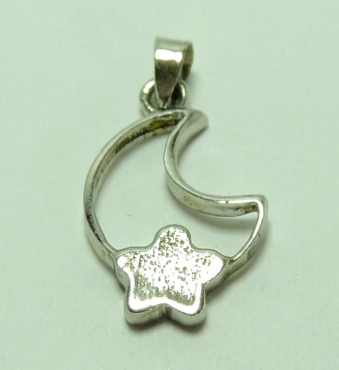 New'925 Sterling Silver + Platinum Pendant P0028