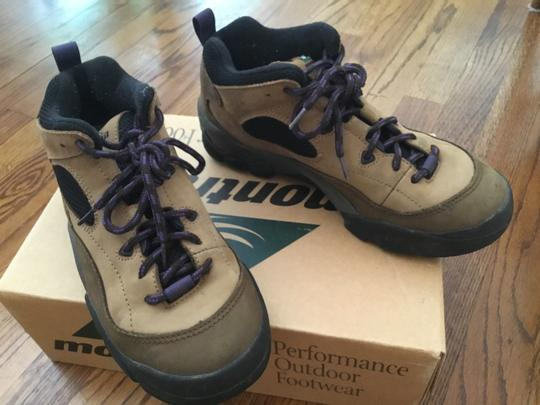 Columbia Sportswear Company Leather Sneakers Lug Sole Brown/Purple Boots Image 2
