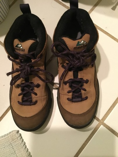 Columbia Sportswear Company Leather Sneakers Lug Sole Brown/Purple Boots Image 8