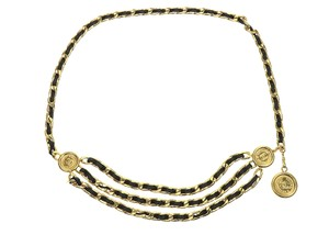Chanel Chanel Gold 95A Leather Coin Belt