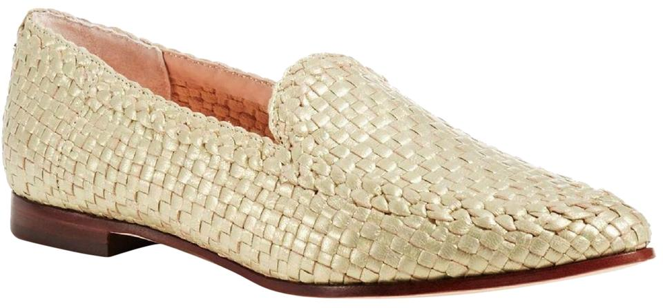 81e080049 Kate Spade Gold Caylee Woven Metallic Nappa Leather Loafer Flats ...