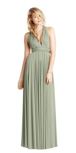 BHLDN Green Two Birds Ginger Convertible Modern Bridesmaid/Mob Dress Size 8 (M)