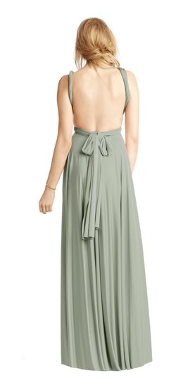 BHLDN Green Two Birds Ginger Convertible Modern Bridesmaid/Mob Dress Size 8 (M) Image 1