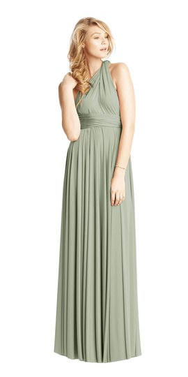 BHLDN Green Two Birds Ginger Convertible Modern Bridesmaid/Mob Dress Size 8 (M) Image 3