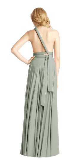 BHLDN Green Two Birds Ginger Convertible Modern Bridesmaid/Mob Dress Size 8 (M) Image 4