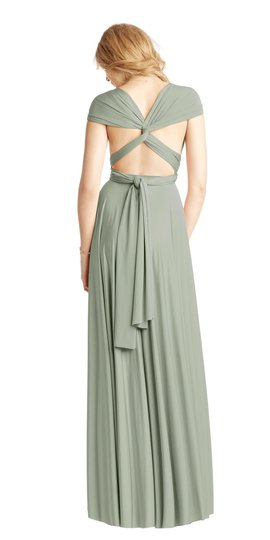 BHLDN Green Two Birds Ginger Convertible Modern Bridesmaid/Mob Dress Size 8 (M) Image 5