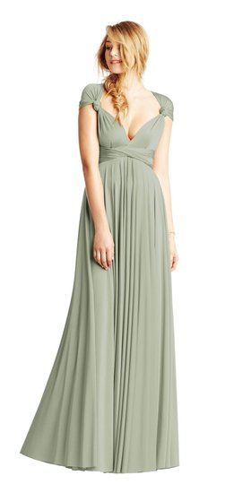 BHLDN Green Two Birds Ginger Convertible Modern Bridesmaid/Mob Dress Size 8 (M) Image 6
