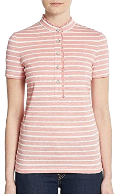 Tory burch red pepper new with tag lidia polo ivory for Tory burch button down shirt