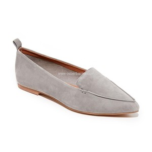 Jeffrey Campbell Suede Loafer Moccasin Leather Gray Flats