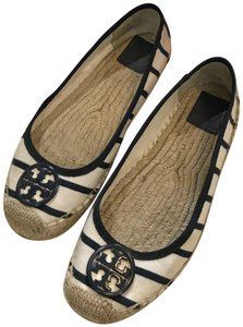 Tory Burch Espadrille White Ballet Ivory/Navy Flats