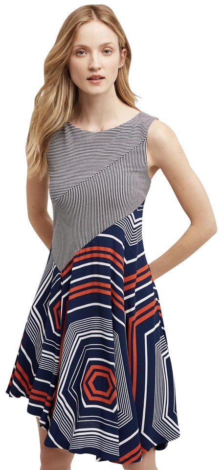 2c151caf63c Anthropologie Navy White Red Maeve Cameron Short Casual Dress Size 6 ...