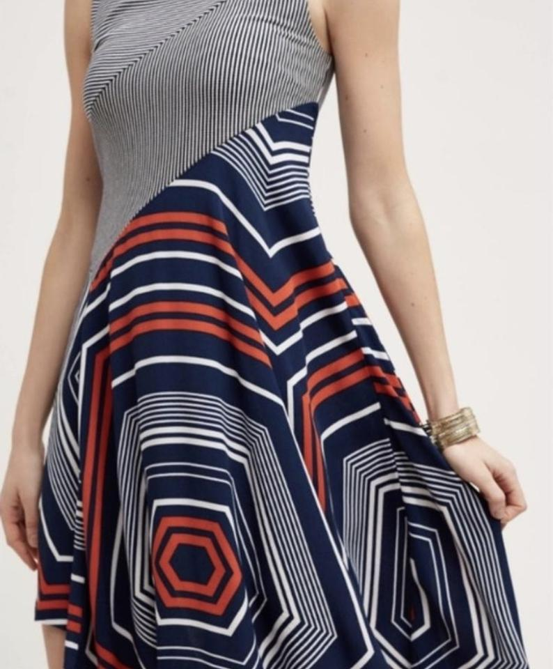 05165c240aa Anthropologie Navy White Red Maeve Cameron Short Casual Dress Size 6 (S) -  Tradesy