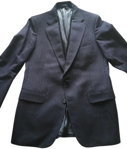 Burberry Men's Navy Pinstripe Burberry Suit