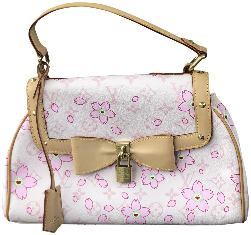2f35071111eb Louis Vuitton Vintage Cherry Blossom Limited Edition Tote in Pink Image 0  ...
