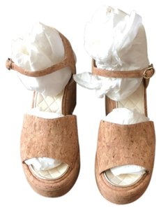 Chanel brown Wedges