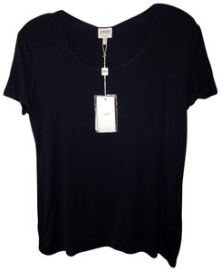 Armani Collezioni Short Sleeve Top Black