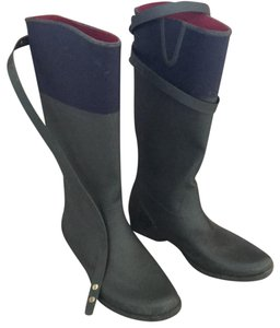 Tommy Hilfiger Green and a dark Blue, almost black Boots