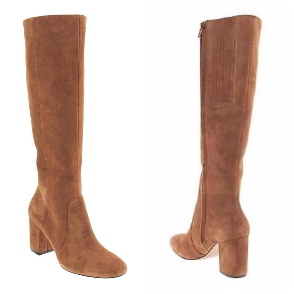 de89a9d0f Banana Republic Cognac Suede Knee High Block Heel Boots/Booties Size ...