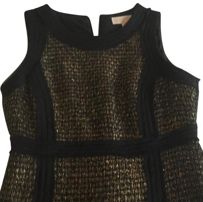 Item - Gold and Black Mid-length Night Out Dress Size 6 (S)