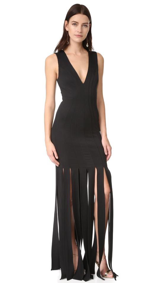 9df83acfc8e ZAC Zac Posen Black Melody Slit Hem Sexy Bridesmaid Mob Dress Size 6 (S ...