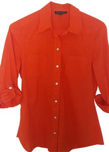 Foxcroft Button Down Shirt Coral