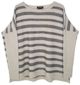 Lord & Taylor Boxy Oversized Striped Cahsmere Soft Sweater
