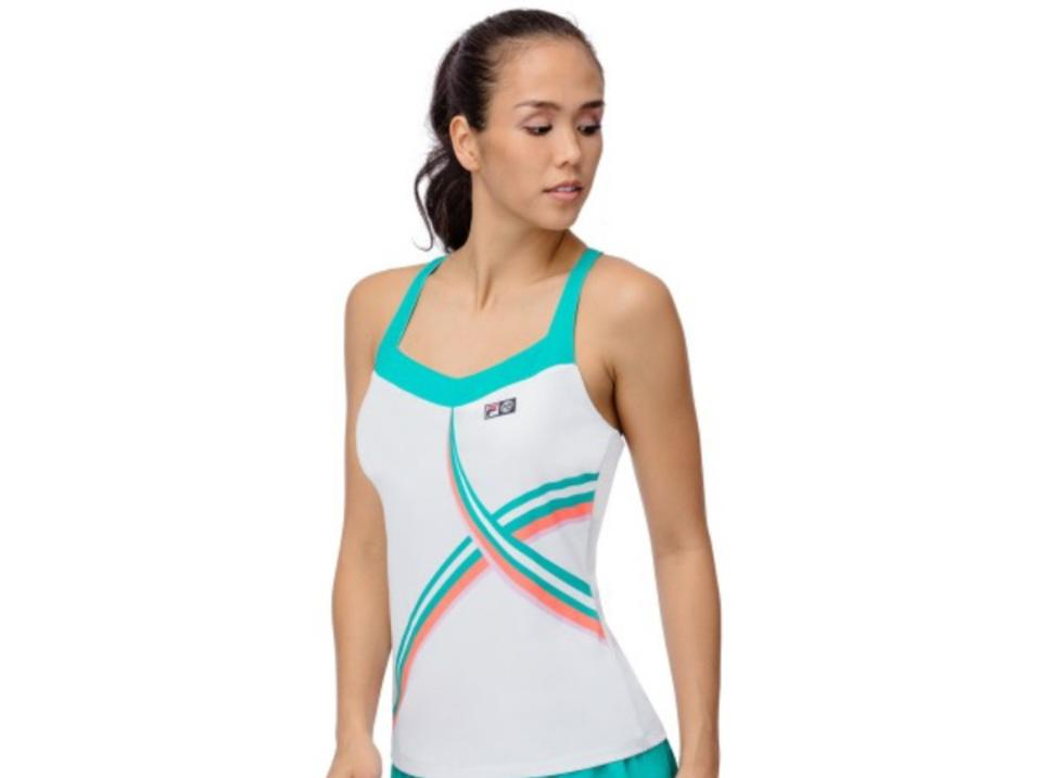 special discount biggest discount how to buy Fila White/Green L By Marion Bartoli 2-pc. Tank and Set Activewear  Sportswear Size 12 (L, 32, 33) 74% off retail
