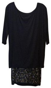 B44 Dressed short dress Black and metal Grommets Lbd on Tradesy