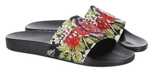 Gucci Floral/Black Sandals