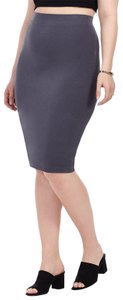 bobi Bodycon Pencil Sexy Jersey Soft Skirt grey