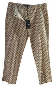 Adrianna Papell Ankle Length Capri/Cropped Pants Cream with pattern
