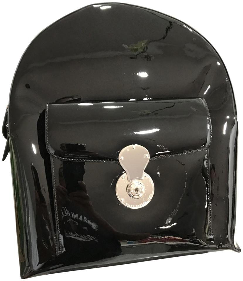 2f098aceb4 Ralph Lauren Collection Ricky Runway Black Patent Leather Backpack ...
