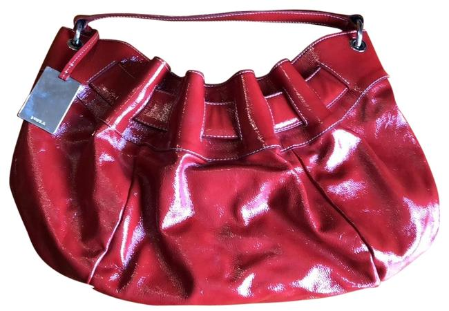 Item - Red White Patent Leather Hobo Bag