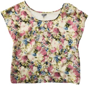 Charlotte Russe Sheer Lace Open Back Top floral