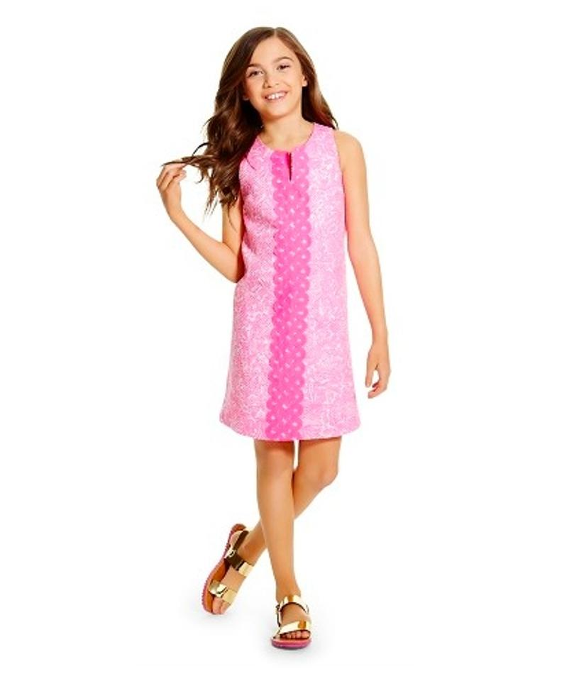 75263f15f72 Lilly Pulitzer Pink For Target Girls  Shift See Ya Later Mid-length ...