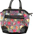 Betsey Johnson Floral Vegan Vintage Tote in Black Multi