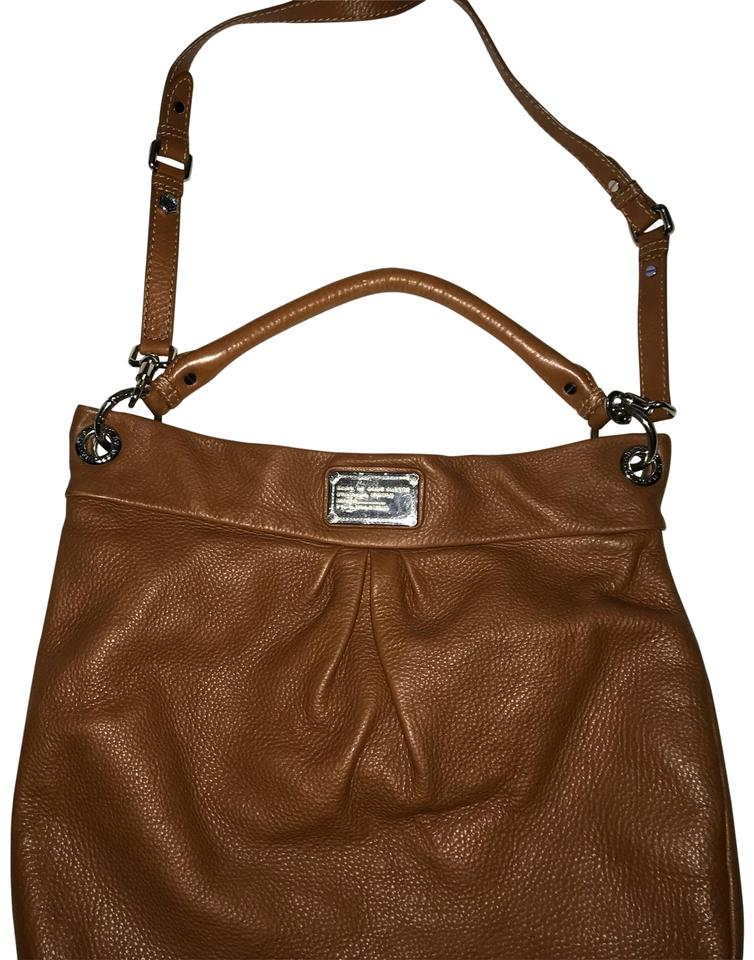 10fc6fad14 Marc by Marc Jacobs Classic Q Hillier Cowhide Hobo Saddle Brown Leather  Cross Body Bag