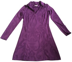 TEHAMA short dress purple Longsleeve Sporty Stretchy on Tradesy