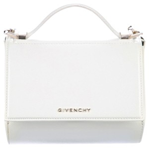 acbb6710bdc Givenchy Pandora Box with Gold Chain White Patent Leather Cross Body ...