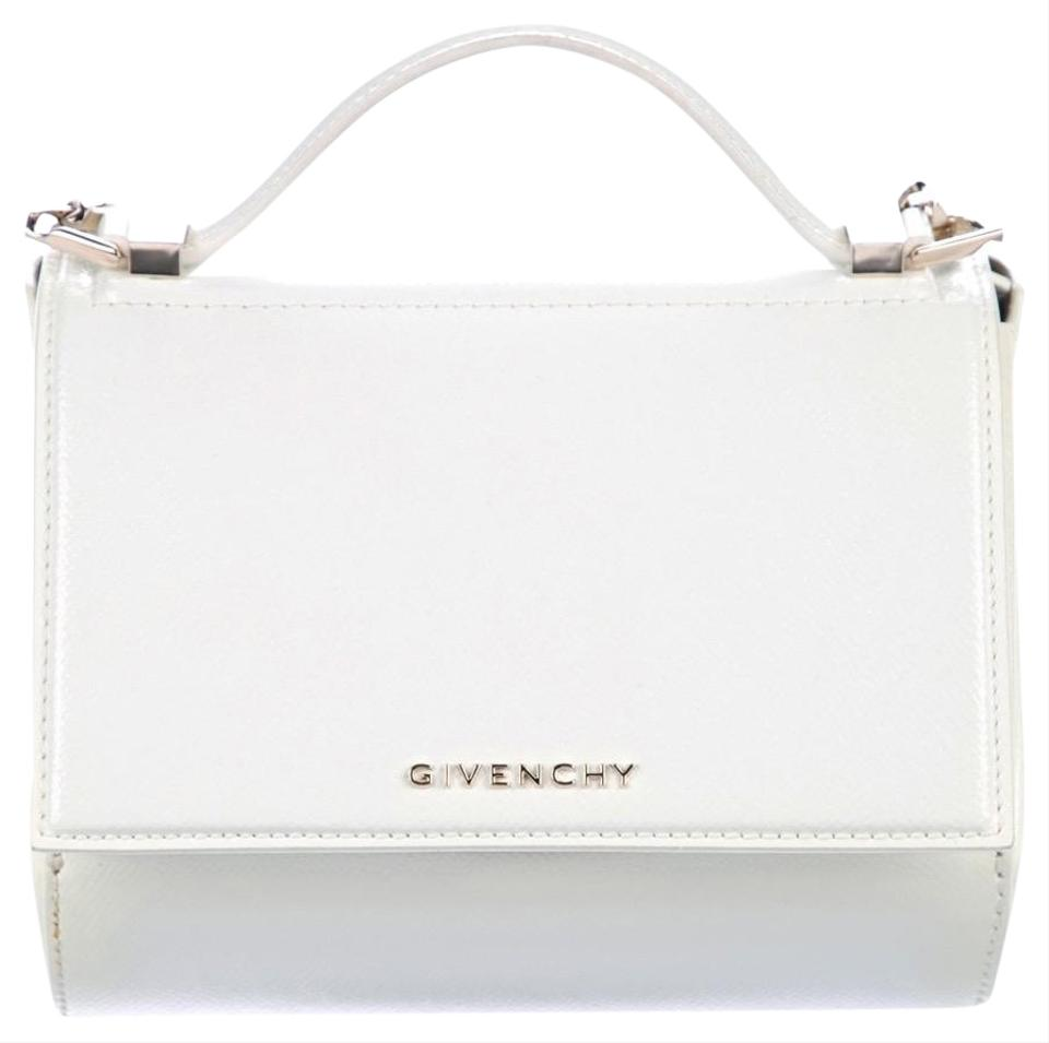 10c7eb8cba23 Givenchy Pandora Box with Gold Chain White Patent Leather Cross Body ...